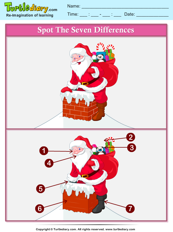Christmas Spot the Difference Answer