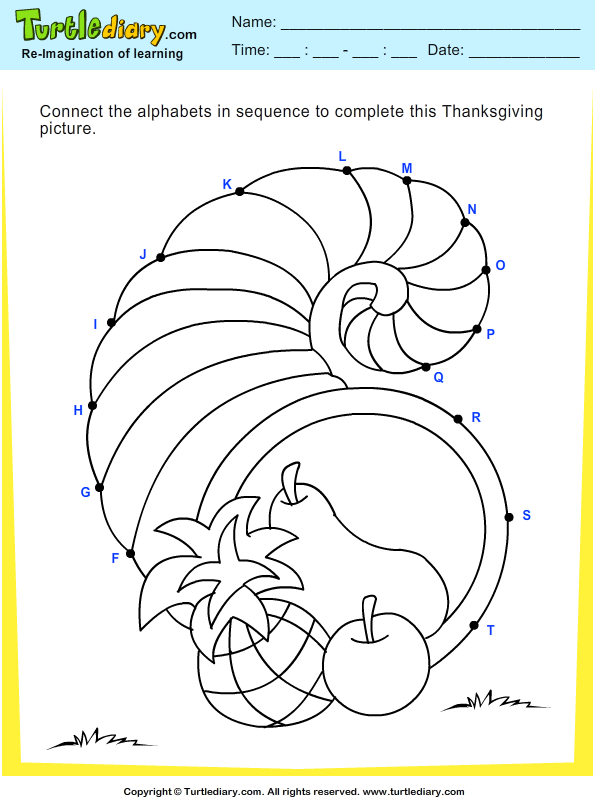 Thanksgiving Connect the Dots Answer