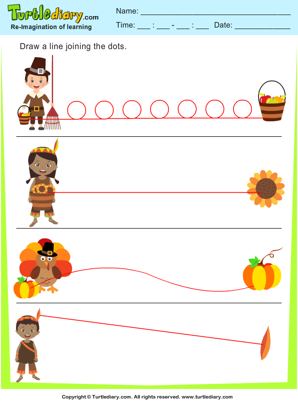 Thanksgiving Tracing Answer