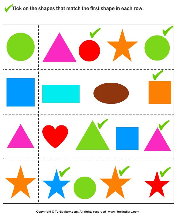 Match the Shape Answer