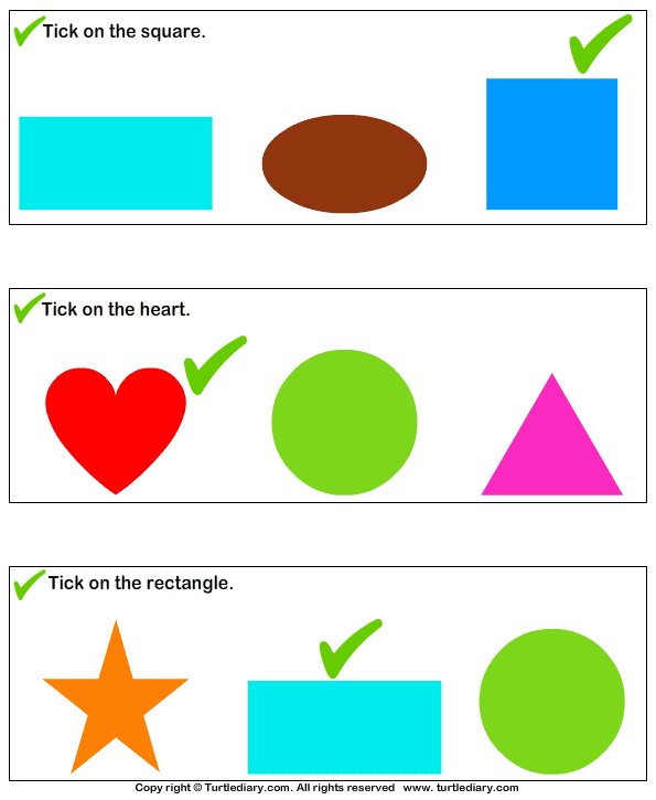 Identify Shapes Answer