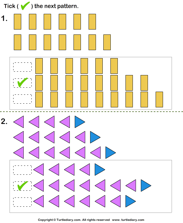 Growing Pattern Answer