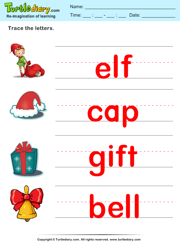 Christmas Vocabulary Answer