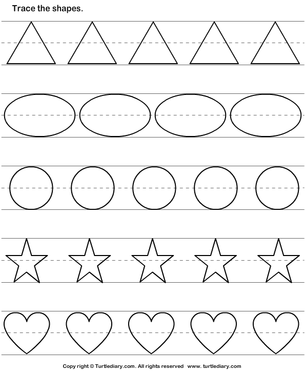 Tracing Basic Shapes Worksheet Turtle Diary – Basic Shapes Worksheets
