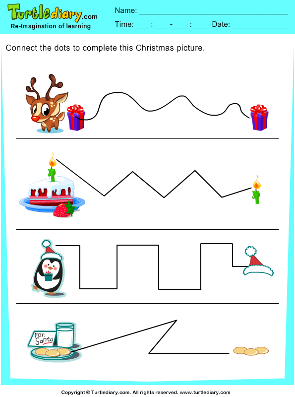 Christmas Tracing Pages Answer