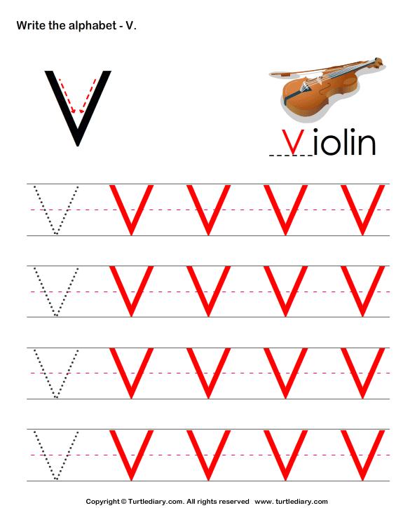 answer-uppercase-alphabet-writing-practice-v Q Worksheet For Pre on letter spanish, capital letter, circle letter, letter reading, letter reversal, letter pvk,