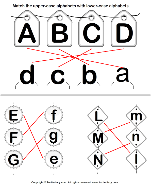 Match Upper Case and Lower Case Letters Answer