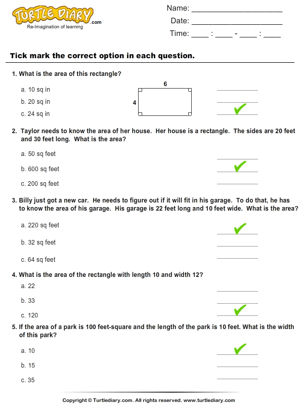 word problems on area of rectangles worksheet turtle diary. Black Bedroom Furniture Sets. Home Design Ideas