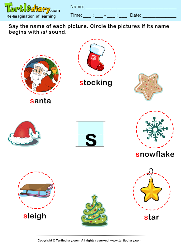 christmas vocabulary answer - Christmas Words That Start With S