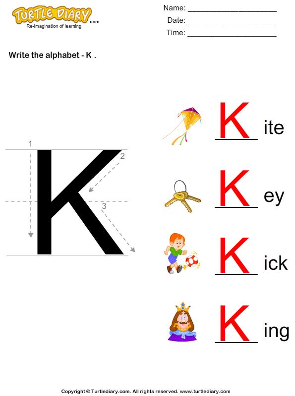Alphabet - Write in Upper Case (a -z) Answer