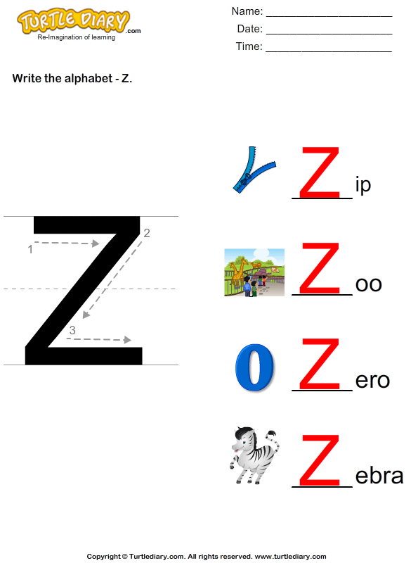 Alphabet - Write in Upper Case (a -z) Answer