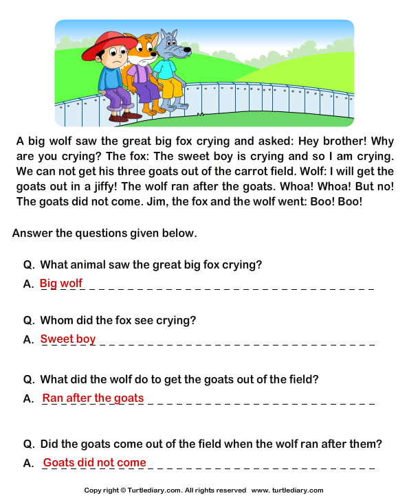 Free Printable 4Th Grade Reading Comprehension Worksheets – Free Printable Kindergarten Reading Comprehension Worksheets