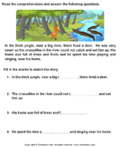 Reading comprehension stories  17 - comprehension - First Grade