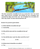 Reading comprehension stories  20 - comprehension - First Grade