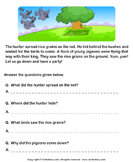 Reading comprehension stories  22 - comprehension - First Grade