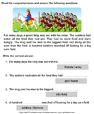Reading comprehension stories  25 - comprehension - First Grade