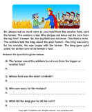 Reading comprehension stories  28 - comprehension - First Grade