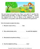 Reading comprehension stories  30 - comprehension - First Grade