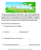 Reading comprehension stories  31 - comprehension - First Grade