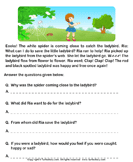 Reading comprehension stories  32 - comprehension - First Grade