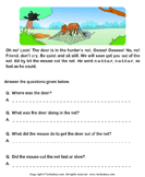 Reading comprehension stories  39 - comprehension - First Grade