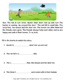 Reading comprehension stories  40 - comprehension - First Grade