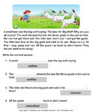 Reading comprehension stories  8 - comprehension - First Grade
