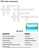 Complete the crossword 1
