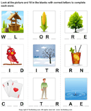 Complete the words 8