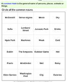 Circle the common nouns 3