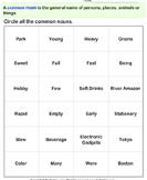 Circle the common nouns 4