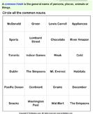 Circle the common nouns 9