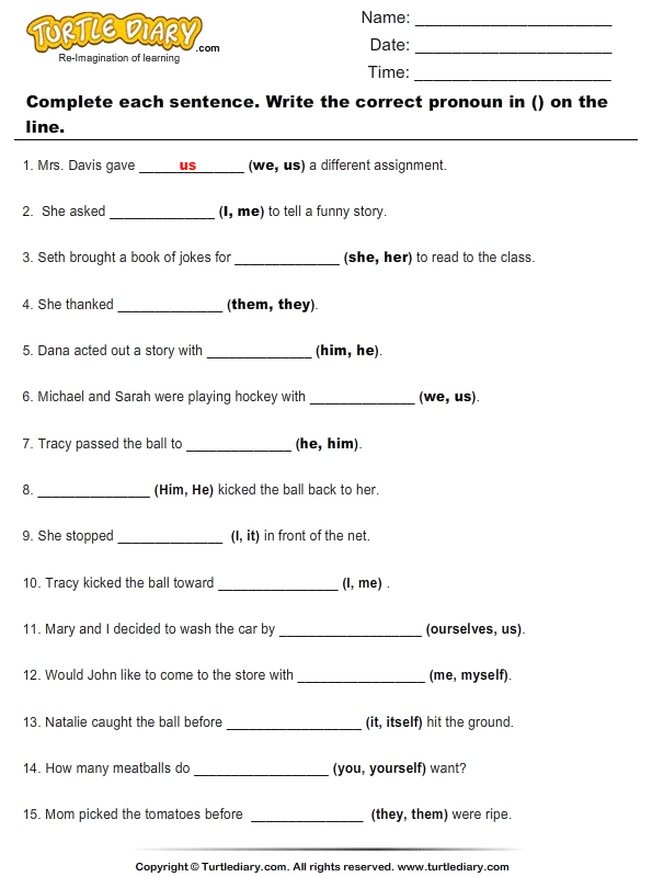 ... And Pronouns Worksheets. on pronoun verb agreement 3rd grade worksheet