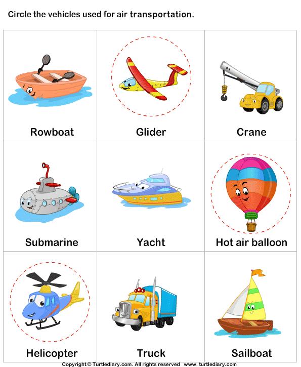 math worksheet : air transportation worksheets : Land Transportation ...