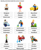 Identify the job - vocabulary - Kindergarten