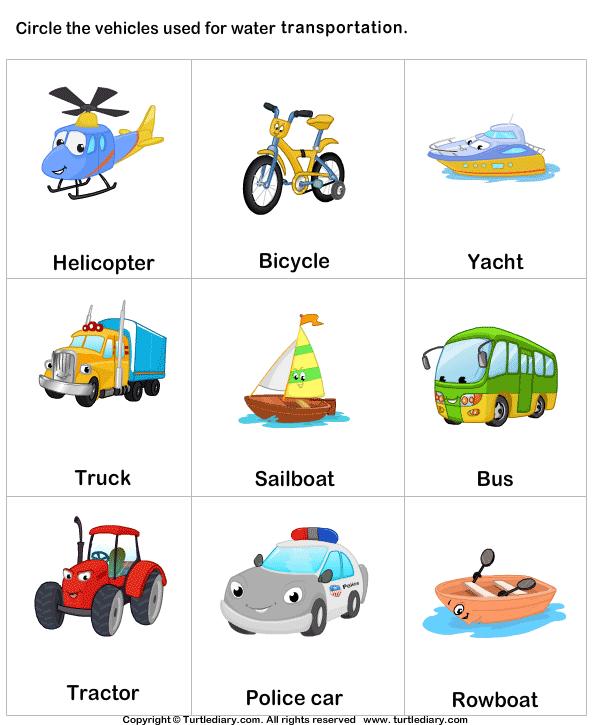 Water transport - TurtleDiary.com