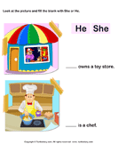 Using 'she' or 'he' 2
