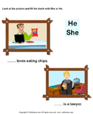 Using 'she' or 'he' 3
