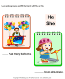 Using 'she' or 'he' 4