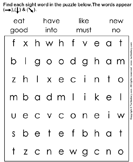 Sight words puzzle 2