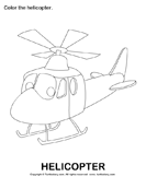 Air transport: Color the pictures 3