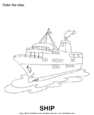 Water transport: Color the pictures 4