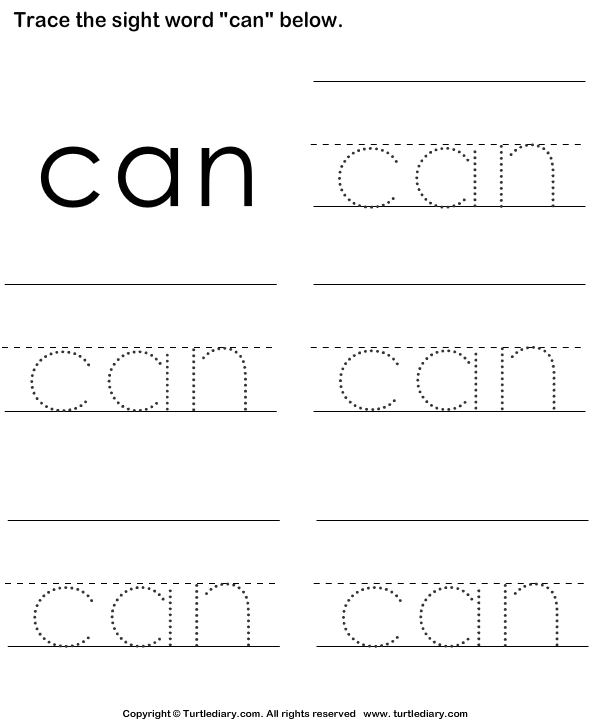 Sight Words Kindergarten Worksheets – Sight Words Tracing Worksheets for Kindergarten