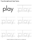 Trace the sight words 5