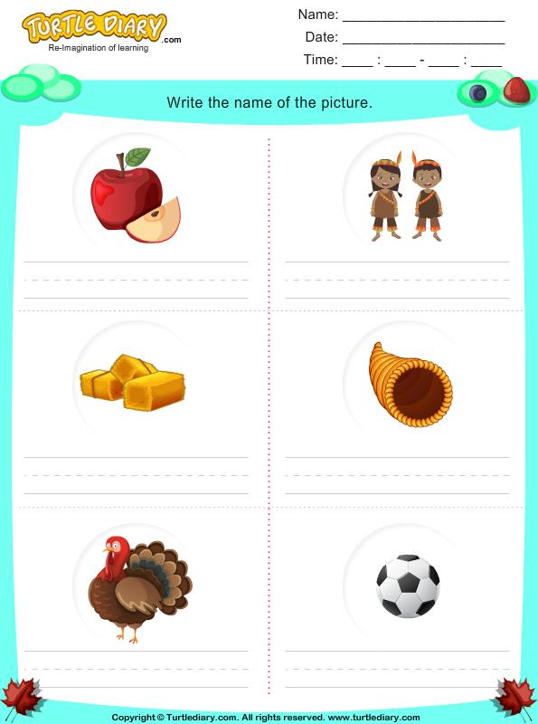 ... Words Worksheet 4 Turtle Diary on thanksgiving word scramble worksheet