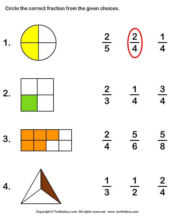 Math Worksheets For Grade 1 Fractions Fraction Worksheets Grade 1
