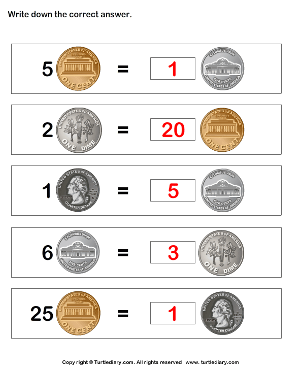 Equivalent amount with same currency - TurtleDiary.com