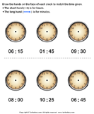 Draw minute and hour hands of clock - units-of-measurement - First Grade