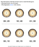 Draw minute and hour hands of clock 3