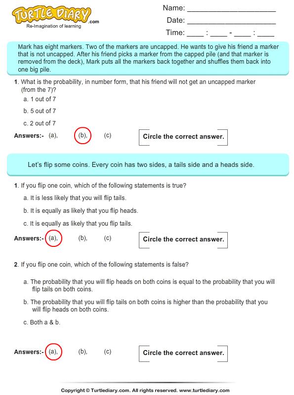probability multiple choice questions 4 worksheet. Black Bedroom Furniture Sets. Home Design Ideas